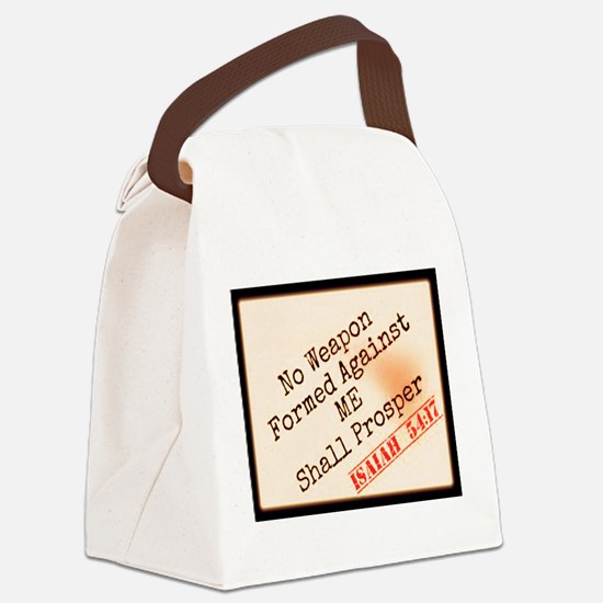 Isaiah 54:17 Canvas Lunch Bag