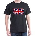 Great Britain British Flag Black T-Shirt