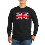 Great Britain British Flag Sleeved Black T-Shirt