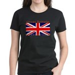 Great Britain British Flag Women's Black T-Shirt