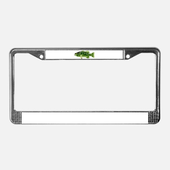 Spotted Bass (Black Bass Family) License Plate Fra