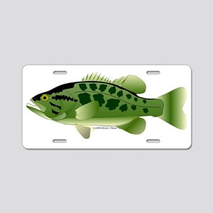 Spotted Bass (Black Bass Family) Aluminum License