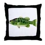 Spotted Bass (Black Bass Family) Throw Pillow