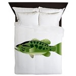 Spotted Bass (Black Bass Family) Queen Duvet