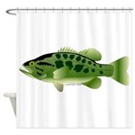 Spotted Bass (Black Bass Family) Shower Curtain