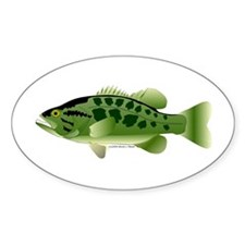 Spotted Bass (Black Bass Family) Sticker