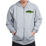 Spotted Bass (Black Bass Family) Zip Hoodie