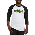 Spotted Bass (Black Bass Family) Baseball Jersey