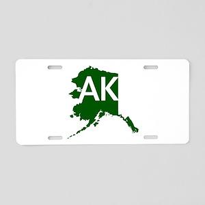 AK Aluminum License Plate