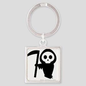 Cute Grim Reaper Square Keychain