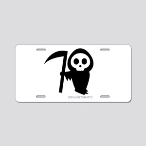 Cute Grim Reaper Aluminum License Plate