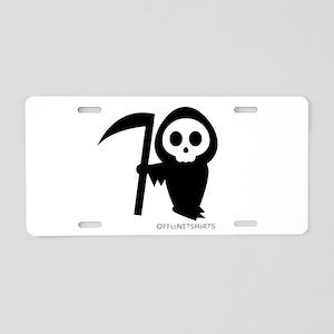 Cute Grim Reaper Aluminum License Plate