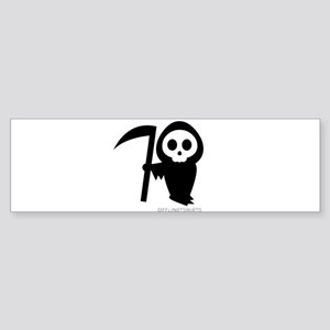 Cute Grim Reaper Sticker (Bumper)