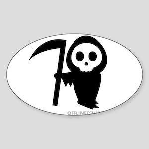 Cute Grim Reaper Sticker (Oval)