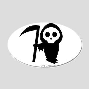 Cute Grim Reaper 20x12 Oval Wall Decal