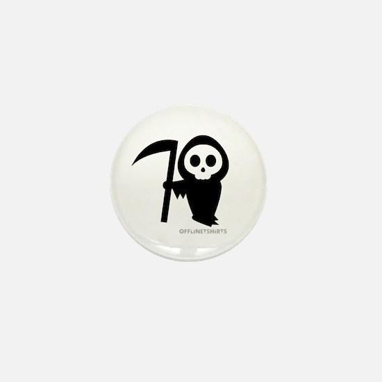 Cute Grim Reaper Mini Button