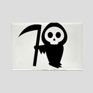 Cute Grim Reaper Rectangle Magnet