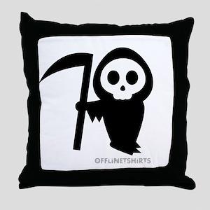 Cute Grim Reaper Throw Pillow