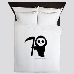 Cute Grim Reaper Queen Duvet