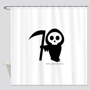 Cute Grim Reaper Shower Curtain