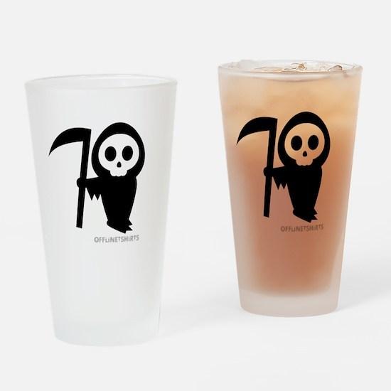 Cute Grim Reaper Drinking Glass