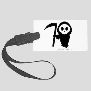 Cute Grim Reaper Large Luggage Tag