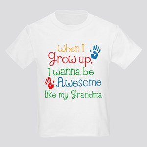 Awesome Like My Grandma Kids Light T-Shirt