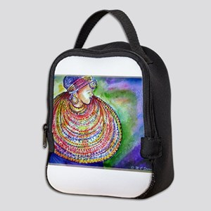 African, woman, art! Neoprene Lunch Bag