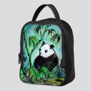 Panda! Wildlife art! Neoprene Lunch Bag