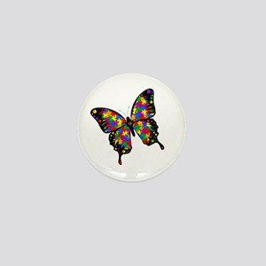 "Autism Butterfly 1"" Mini Button"
