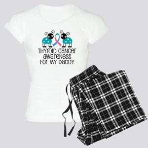 Thyroid Cancer Support Daddy Women's Light Pajamas