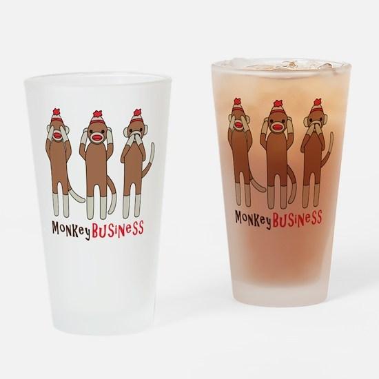 Monkey Business Drinking Glass