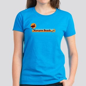 Navarre Beach - Beach Design. Women's Dark T-Shirt
