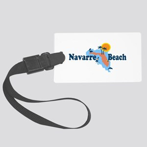 Navarre Beach - Map Design. Large Luggage Tag