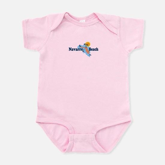 Navarre Beach - Map Design. Infant Bodysuit