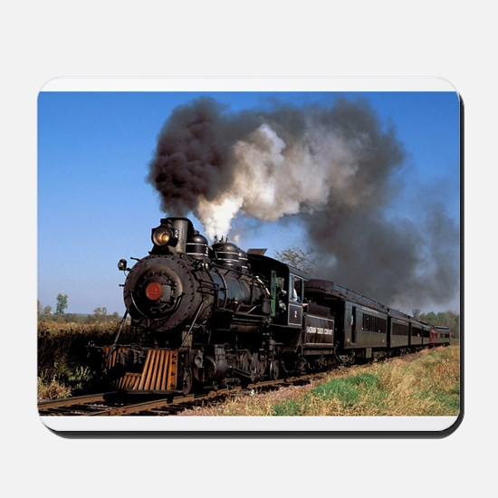 Antique steam engine train Mousepad