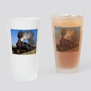 Antique steam engine train Drinking Glass