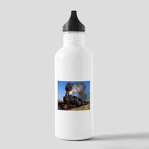Antique steam engine train Water Bottle