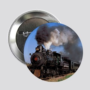 "Antique steam engine train 2.25"" Button"