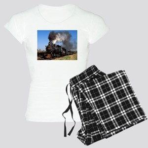 Antique steam engine train Pajamas