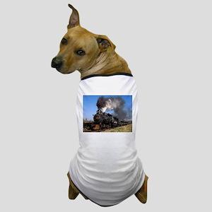 Antique steam engine train Dog T-Shirt
