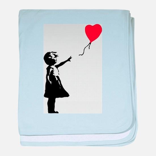 Banksy - Little Girl with Ballon baby blanket