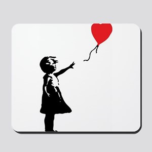 Banksy - Little Girl with Ballon Mousepad