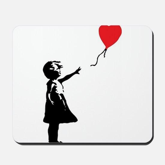 Banksy - Little Girl with Ballon Mousepad