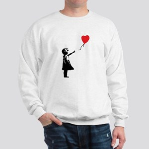 Banksy - Little Girl with Ballon Sweatshirt