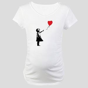Banksy - Little Girl with Ballon Maternity T-Shirt