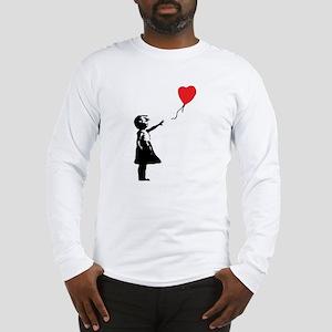 Banksy - Little Girl with Ballon Long Sleeve T-Shi