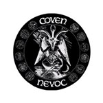 "Coven Nevoc Goat Logo 3.5"" Button"