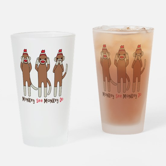 Monkey See Monkey Do Drinking Glass