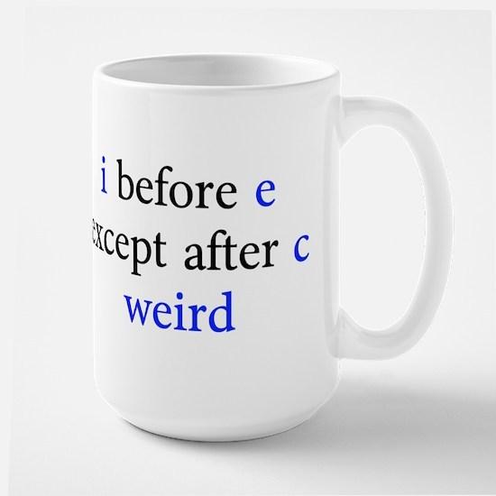 I Before E Except After C Weird Mug